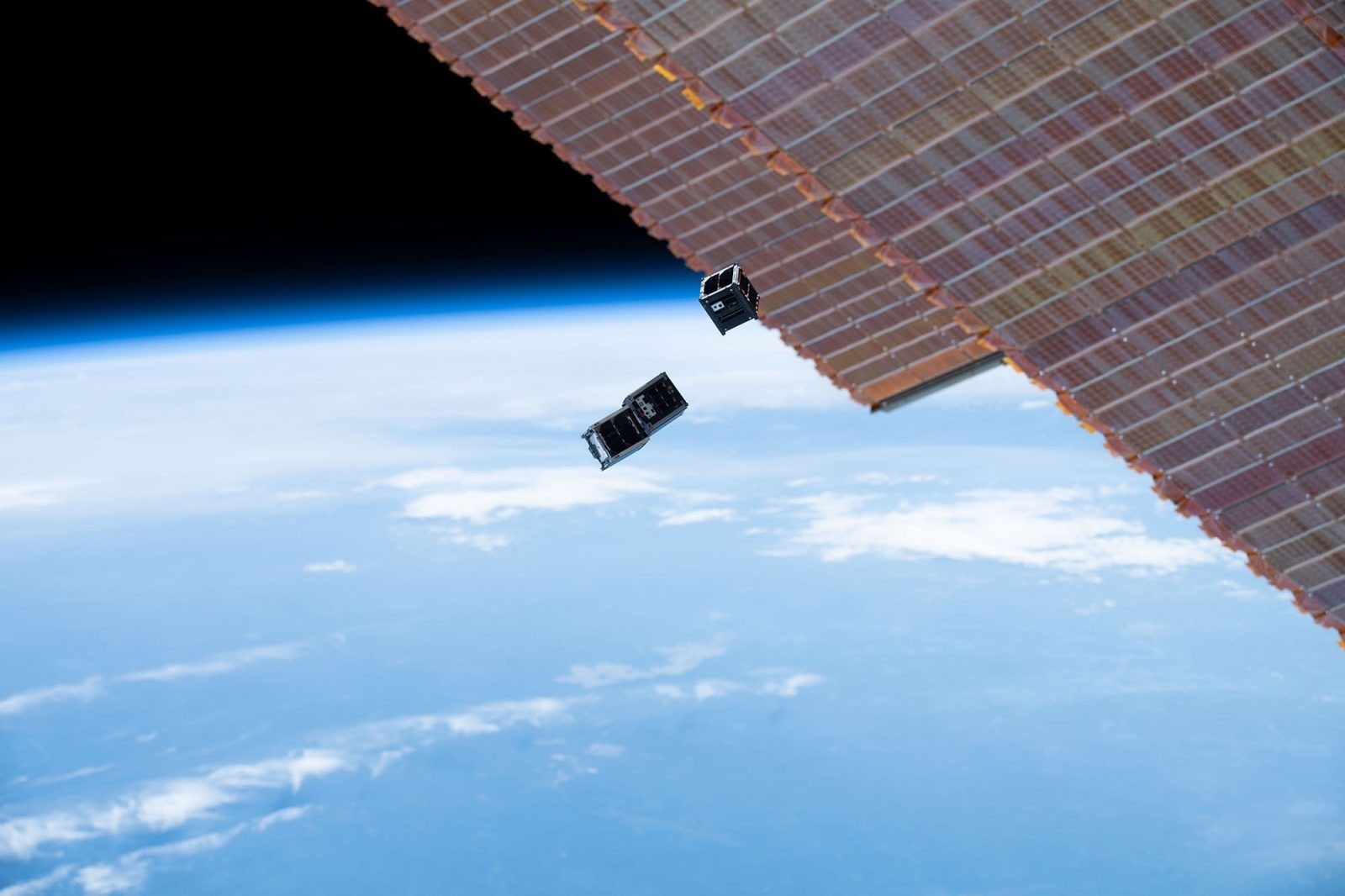 Student-built satellites deployed into orbit from the International Space Station