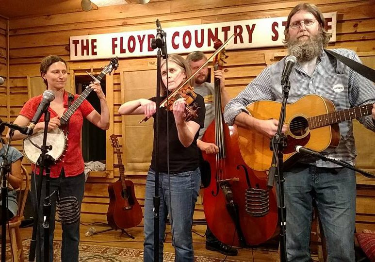 Outside of work, Chis Dunavant (right) has performed in the band Happy Hollow Stringband over the last 10 years.